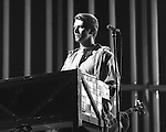 David Bowie onstage at Madison Square Garden in New York City in May, 1978.