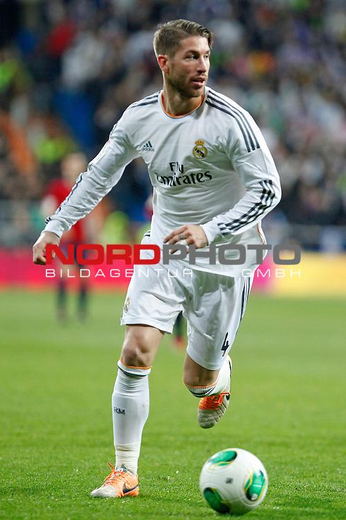 Real Madrid¬¥s Sergio Ramos during King¬¥s Cup match in Santiago Bernabeu stadium in Madrid, Spain. January 09, 2014. Foto © nph / Victor Blanco)