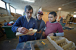 An instructor works with students in a woodworking class at the Instituto de Buena Voluntad (the Good Will Institute) in Montevideo, Uruguay. Sponsored by the Methodist Church of Uruguay, the institute works with youth and adults with disabilities. It receives financial support from United Methodist Women.
