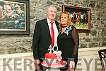 40th Wedding Anniversary: Tom & Margaret O'Connor, Moyvane celebrating their 40th wedding anniversary at Behan's Horseshoe Restaurant, Listowel on Saturday night last.
