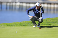Martin Laird (SCO) on the 5th green at Pebble Beach Golf Links during Saturday's Round 3 of the 2017 AT&amp;T Pebble Beach Pro-Am held over 3 courses, Pebble Beach, Spyglass Hill and Monterey Penninsula Country Club, Monterey, California, USA. 11th February 2017.<br /> Picture: Eoin Clarke | Golffile<br /> <br /> <br /> All photos usage must carry mandatory copyright credit (&copy; Golffile | Eoin Clarke)