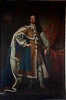 A portrait of King William III by Godfrey Kneller hangs in the staircase hall