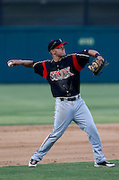 Travis Whitmore #15 of the Lake Elsinore Storm during a game against the Inland Empire 66'ers at San Manuel Stadium on June 23, 2013 in San Bernardino, California. Lake Elsinore defeated Inland Empire, 6-2. (Larry Goren/Four Seam Images)