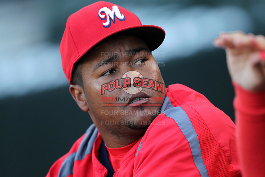 Memphis Redbirds pitcher Victor Marte #53 before a game versus the Round Rock Express at Autozone Park on April 28, 2011 in Memphis, Tennessee.  Memphis defeated Round Rock by the score of 6-5 in ten innings.  Photo By Mike Janes/Four Seam Images