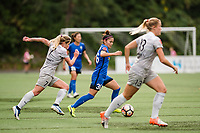 Seattle, WA - Sunday, August 13, 2017: Nahomi Kawasumi during a regular season National Women's Soccer League (NWSL) match between the Seattle Reign FC and the North Carolina Courage at Memorial Stadium.