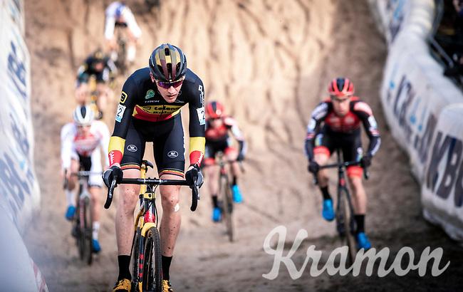 Belgian National Champion and later race winner Toon Aerts (BEL/Telenet Baloise Lions) in the infamous 'Pit'<br /> <br /> CX Superprestige Zonhoven (BEL) 2019<br /> Elite & U23 mens race