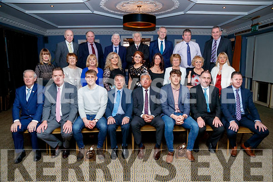 Pictured at the Kerry Supporters Social at Ballygarry House Hotel and Spa, Tralee, on Saturday night last, were front l-r: Christy Killeen, Tim Murphy, Killian Spillane, Donie O'Leary, Ogie Moran, David Clifford, Martin Leane and Jimmy Keane (Junior Football Manager). Middle l-r: Leanne Ryan, Kit Ryan, Noreen Lynch, Grainne Howard, Triona Brassill, Elaine O'Connor, Carmel Mansfield, Mary Leane and Bridie Howard. Back l-r: Brendan McCarthy, John Joe Sugrue, Jimmy Shanahan, Dan Dwyer, John King, Bernard Lynch and John O'Connell.