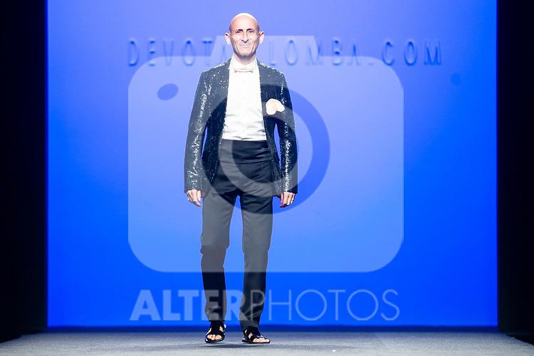 Fashion Designer Modesto Lomba walks the runway after 'Devota y Lomba' catwalk during the Mercedes-Benz Madrid Fashion Week Spring/Summer in Madrid, Spain. July 09, 2018. (ALTERPHOTOS/Borja B.Hojas)