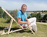 Ferienressort und Wassersportzentrum entsteht an der Schladitzer Bucht bei Rackwitz - einer der Visionäre der Schladitzer Bucht Sven Neundorf (42).   Foto: Norman Rembarz