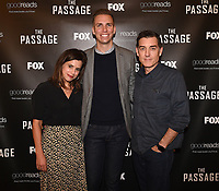 """LOS ANGELES - JANUARY 9: Executive Producer Liz Heldens, author Justin Cronin and  moderator Danny Feekes attend an advanced screening and Q&A of FOX's """"The Passage"""" at the AMC Century City 15 on January 9, 2019, in Los Angeles, California. (Photo by Frank Micelotta/Fox/PictureGroup)"""