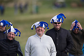 5th October 2017, The Old Course, St Andrews, Scotland; Alfred Dunhill Links Championship, first round; Welsh golf fans get in the mood for the Dunhill Links with Scotland hats during the first round at the Alfred Dunhill Links Championship on the Old Course, St Andrews