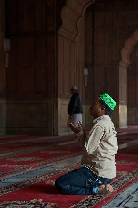 New Delhi India the Jama Masjid Mosque in Old Delhi