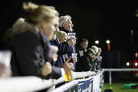 Spectators during the Greene King IPA Championship match between London Scottish Football Club and Nottingham Rugby at Richmond Athletic Ground, Richmond, United Kingdom on 16 October 2015. Photo by David Horn.