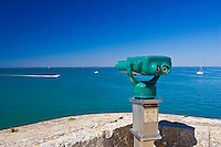 Binoculars for sea view of the  Ile de Re region of France.