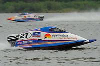 Carlos Mendana, (#27) and Jose Mendana, Jr., (#21) (SST-45 class)