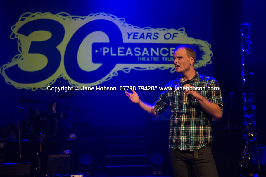 Edinburgh, UK. 02.08.2014. The Pleasance hosts its press launch in its 30th anniversary year on the Fringe. Picture shows: Comedian, John Hastings. Photograph © Jane Hobson,