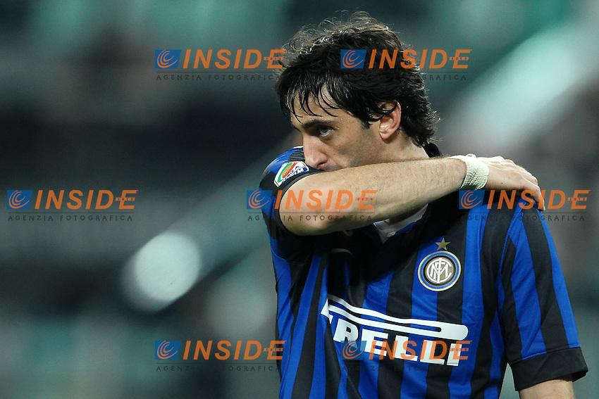 "Delusione DIego Milito Inter.Torino 25/3/2012 Stadio ""Juventus Stadium"".Football Calcio 2011/2012 Campionato Italiano Serie A.Juventus Vs Inter.Foto Insidefoto Andrea Staccioli"