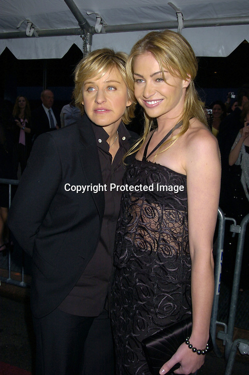 Ellen Degeneres and Portia de Rossi ..arriving at The 32nd Annual Daytime Emmy Awards ..at Radio City Music Hall on May 20, 2005...Photo by Robin Platzer, Twin Images