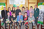 BADMINTON:: Members of the Kerry Badminton Club held a function in The Meadowlands Hotel, Tralee on Friday night to mark TO LAUNCH the 75th anniversary Book of Badminton in Kerry. Front l-r: John Brosnan (Currow), Marian O'Neill (Tralee), Junior Griffin ( Chairman,Listowel), Peggy Hogan (Killarney) and Sheila Hannon (Castleisland). Back l-r: Ollie Conyard (Moyvane), Eileen O'Connor (Killarney), Bríd Murphy (Castleisland), Maurice O'Shea (Tralee), Christine O'Connor (Dingle), Eileen Roche (Moyvane), Trudy Kennedy (Waterford) and Craig Casey (Badminton Ireland).............