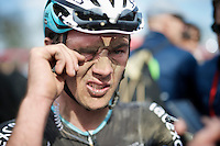 Yves Lampaert's (BEL/Etixx-QuickStep) post-race face<br /> <br /> 113th Paris-Roubaix 2015
