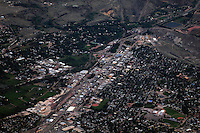 aerial of Canon City at dusk