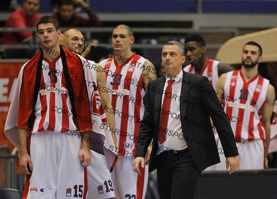 Kosarka ABA League season 2015-2016<br /> Crvena Zvezda v Partizan<br /> head coach Dejan Radonjic Marko Tejic Maik Zirbes<br /> Beograd, 03.11.2015.<br /> foto: Srdjan Stevanovic/Starsportphoto&copy;