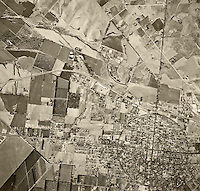 historical aerial photograph Corona, California, 1948