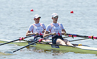 Brandenburg. GERMANY. GBR W2-. Bow Katherine GRAINGER and Victoria THORNLEY.<br /> 2016 European Rowing Championships at the Regattastrecke Beetzsee<br /> <br /> Friday  06/05/2016<br /> <br /> [Mandatory Credit; Peter SPURRIER/Intersport-images]