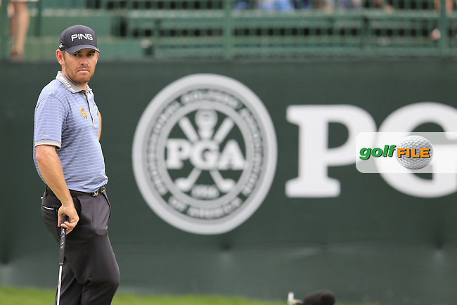 Louis Oosthuizen (RSA) at the 12th green during Friday's Round 2 of the 2017 PGA Championship held at Quail Hollow Golf Club, Charlotte, North Carolina, USA. 11th August 2017.<br /> Picture: Eoin Clarke | Golffile<br /> <br /> <br /> All photos usage must carry mandatory copyright credit (&copy; Golffile | Eoin Clarke)