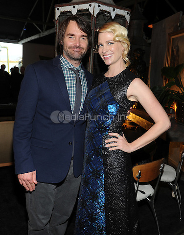 LOS ANGELES - FEBRUARY 24: Will Forte and January Jones at an exclusive screening of the premiere episode of FOX's 'The Last Man on Earth' at Big Daddy's Antique Shop on February 24, 2015 in Los Angeles, California. Credit: PGFM/MediaPunch