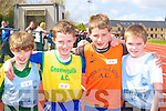 Running at the Juvenile Athletic Championships in Castleisland on Sunday was l-r: Christopher Heffernan St Brendan's, John Francis O'Grady Gneeveguilla, David O'Connor Star of the Laune and TJ Maunsell St Brendan's    Copyright Kerry's Eye 2008