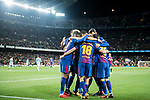 Players of FC Barcelona celebrate during the Copa Del Rey 2017-18 Round of 16 (2nd leg) match between FC Barcelona and RC Celta de Vigo at Camp Nou on 11 January 2018 in Barcelona, Spain. Photo by Vicens Gimenez / Power Sport Images