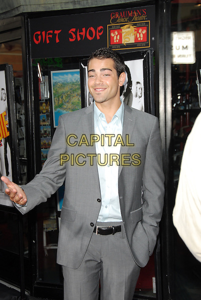 "JESSE METCALFE.Los Angeles Premiere of ""John Tucker Must Die"" held at The Grauman's Chinese Theatre in Hollywood, California  .July 25th, 2006.Ref: DVS.half length grey gray suit jacket.www.capitalpictures.com.sales@capitalpictures.com.©Debbie VanStory/Capital Pictures"