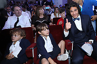 Edinson Cavani (PSG) con i figli<br /> Napoli 06-06-2017  Napoli Hotel Continental<br /> Premio Football Leader 2017 - I migliori votano i migliori<br /> Football Leader 2017 Award - The best vote the best<br /> Foto Cesare Purini / Insidefoto