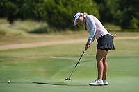 Stephanie Meadow (NIR) watches her putt on 12 during the round 3 of the Volunteers of America Texas Classic, the Old American Golf Club, The Colony, Texas, USA. 10/5/2019.<br /> Picture: Golffile   Ken Murray<br /> <br /> <br /> All photo usage must carry mandatory copyright credit (© Golffile   Ken Murray)