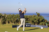 Jan Bengtsson (AM) on the 8th tee during Round 1 of the 2015 Alfred Dunhill Links Championship at Kingsbarns in Scotland on 1/10/15.<br /> Picture: Thos Caffrey | Golffile