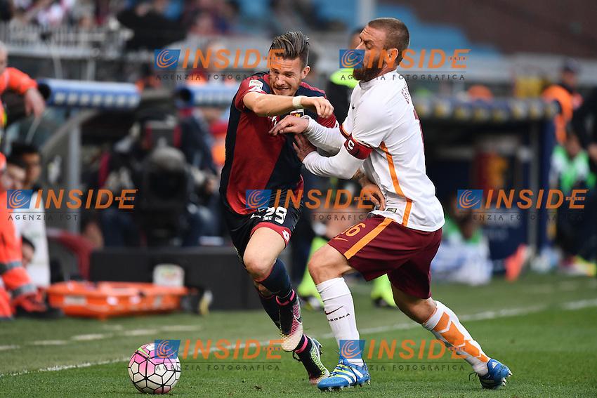 Riccardo Fiamozzi Genoa, Daniele De Rossi Roma <br /> Genova 02-05-2016 Football Calcio Serie A 2015/2016  Genoa - AS Roma foto Image Sport/Insidefoto