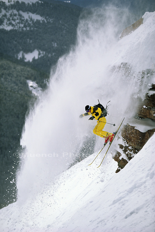 """skier, Rasputins Rock,  Vail   COLORADO"""