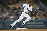 08/9/11 Los Angeles, CA: Los Angeles Dodgers shortstop Dee Gordon #9 during an MLB game against the Philadelphia Phillies played at Dodger Stadium. The Phillies defeated the Dodgers 2-1.