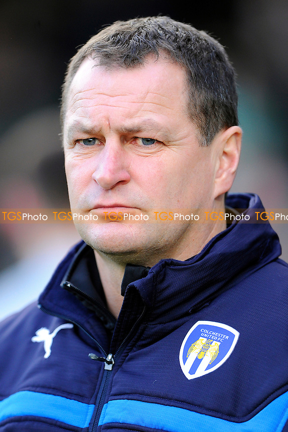 Colchester United Manager Tony Humes - Yeovil Town vs Colchester United - Sky Bet League One Football at Huish Park, Yeovil - 20/12/14 - MANDATORY CREDIT: Denis Murphy/TGSPHOTO - Self billing applies where appropriate - contact@tgsphoto.co.uk - NO UNPAID USE