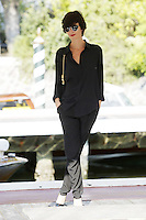 Paz Vega arrives at the Darsena to attend the 72nd Venice Film Festival at the Excelsior Hotel in Venice, Italy, September 11, 2015.<br /> UPDATE IMAGES PRESS/Stephen Richie