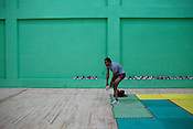 The Indian Kabbadi team-member is seen wearing his shoes after a game at a month long camp in Sport Authority of India Sports Complex in Bisankhedi, outskirts of Bhopal, Madhya Pradesh, India.