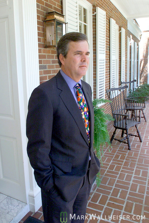 Florida Governor Jeb Bush at the Governor's Mansion in Tallahassee, .Florida April 18, 2001.