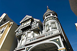 California, San Francisco: Example of a Victorian house being restored, 1828 Pacific..Photo #: 21-casanf77553.Photo © Lee Foster 2008