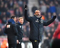 Wolverhampton Wanderers Manager Nuno is not happy with decision during AFC Bournemouth vs Wolverhampton Wanderers, Premier League Football at the Vitality Stadium on 23rd February 2019