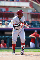 Altoona Curve left fielder Barrett Barnes (17) squares to bunt during a game against the Erie SeaWolves on July 10, 2016 at Jerry Uht Park in Erie, Pennsylvania.  Altoona defeated Erie 7-3.  (Mike Janes/Four Seam Images)