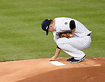 Masahiro Tanaka (Yankees), OCTOBER 6, 2015 - MLB : New York Yankees starting pitcher Masahiro Tanaka grooms the mound in the first inning during the American League Wild Card Game against the Houston Astros at Yankee Stadium in New York, United States. (Photo by AFLO)