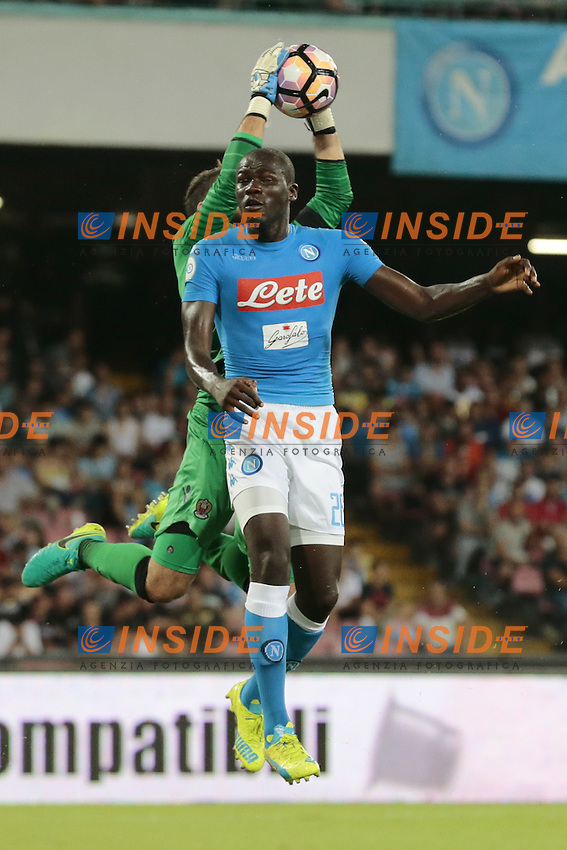 Kalidou Koulibaly Napoli,  <br /> Napoli 01-08-2016 Stadio San Paolo <br /> Amichevole per i 90 anni del Napoli e occasione per la presentazione della squadra stagione 2016-2017<br /> Friendly for the 90th anniversary of Naples and the occasion for the presentation of the team from 2016 to 2017 season<br /> Football Calcio friendly Amichevole partita precampionato 2016/2017 Napoli - Nizza<br /> Photo Cesare Purini / Insidefoto