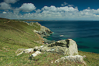 Looking towards the Lizard Peninsula from Cudden Point near Perranuthnoe, Cornwall