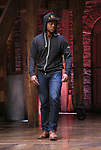 """J. Quinton Johnson during the Q & A for The Rockefeller Foundation and The Gilder Lehrman Institute of American History sponsored High School student #EduHam matinee performance of """"Hamilton"""" at the Richard Rodgers Theatre on 3/15/2017 in New York City."""